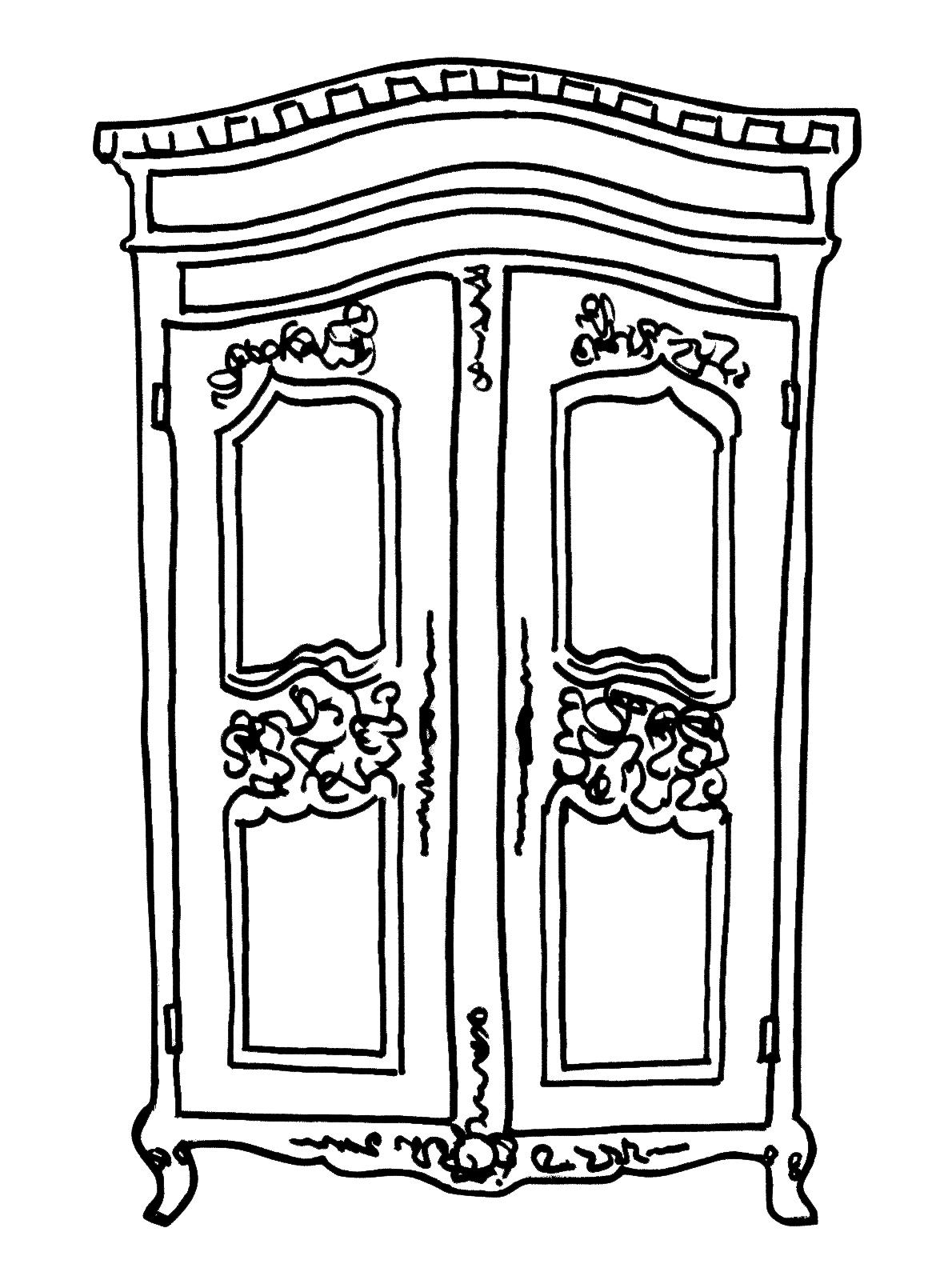 Dibujo de ropero para colorear - Imagui