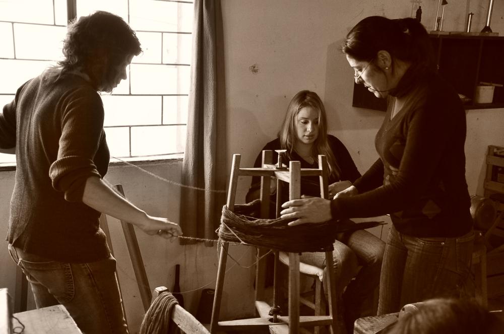 Artesanas de Manos del Uruguay de la Cooperativa Cas de José Enrique Rodó