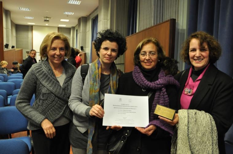 Magdalena Supervielle (Asesora), Ana de Prado (diseñadora), Judith Gómez (directiva) y Elizabeth Sosa  (directiva)