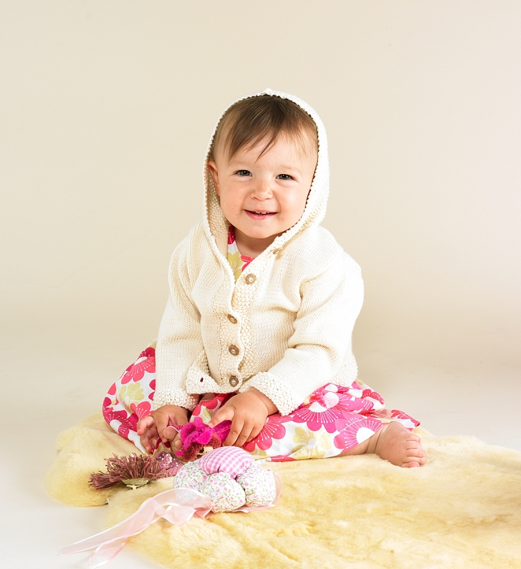 Flordemano Organic Cotton Cardigan with Hood