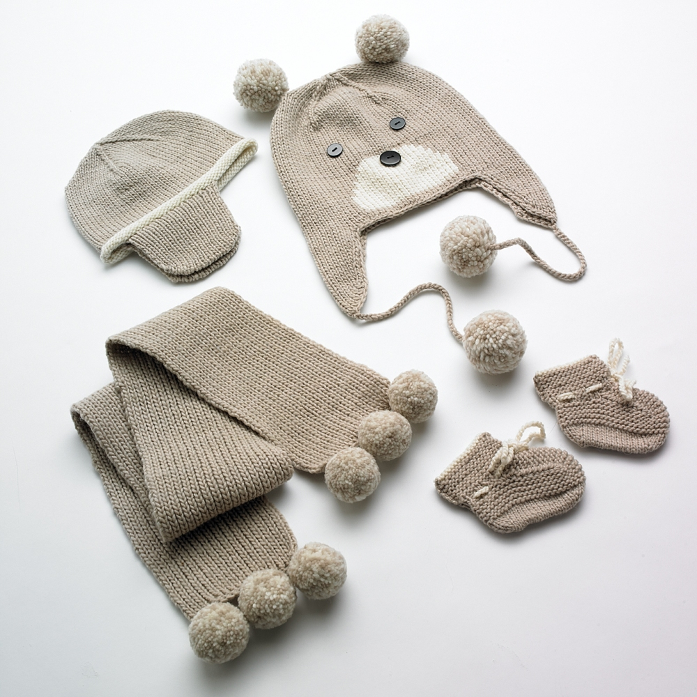 Merino Bear Hat and Scarf