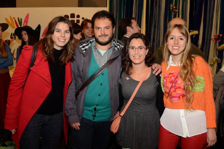 Marcela Abal, Eduardo Sganga, Tania Gazzola y Rosina Cortella.