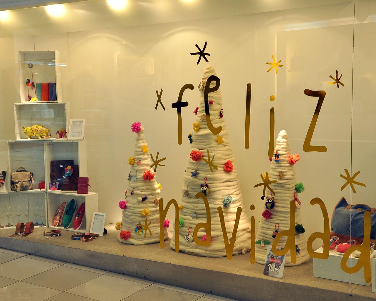 Vidrieras - Adornos navidenos para comercios ...