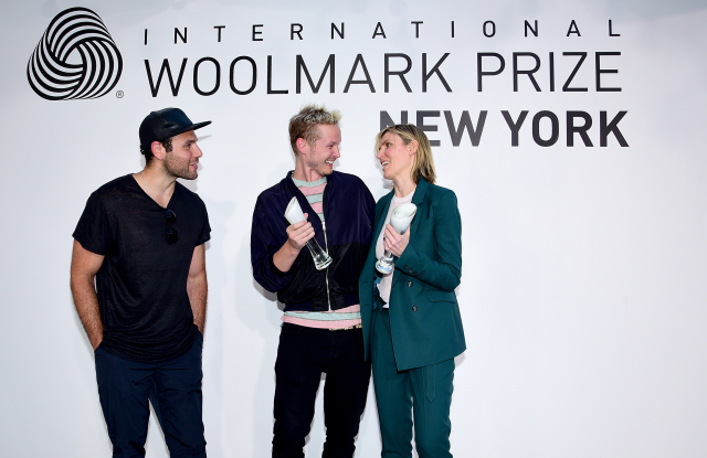 Gabriela Hearst, con su premio International Woolmark U.S.